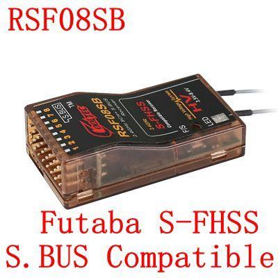 Cooltech RSF08SB compatible Futaba S-FHSS SBUS 8ch receiver 10J, 8J, 6K, 6J, 10J, 14sg,T16SZ,18MZWC,18SZ, TM-FH, frsky delta 8