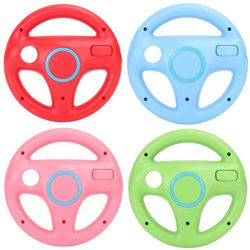 4 Colors 1Pcs Game Racing Steering Wheel Controller For Nintendo For Wii Racing Game Controlle For Mario Kart Remote Controller