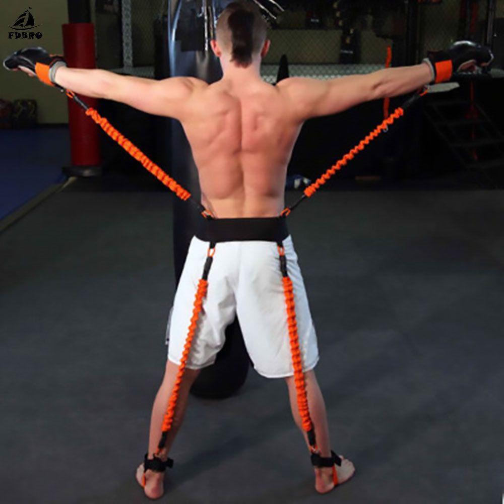 FDBRO Festigkeit Explosive Kraft Training Gürtel Taekwondo Crossfit Jump Widerstand Bands Boxen Bein Arm Physikalische Power Training
