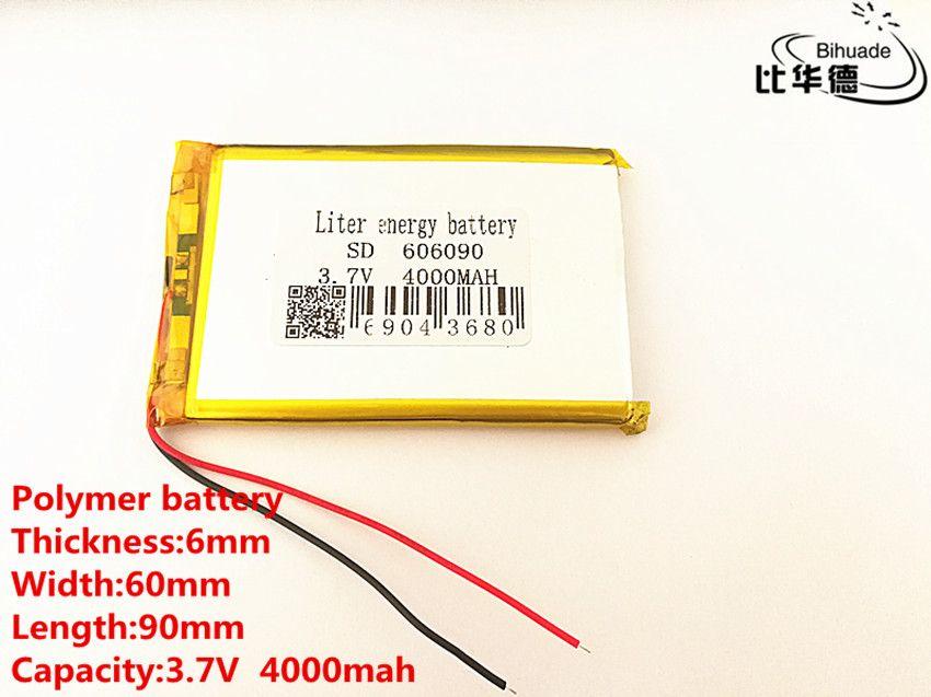 Batterie au lithium-ion polymère 606090 3.7 v 4000 mah peut être personnalisé en gros CE FCC ROHS MSDS certification de qualité