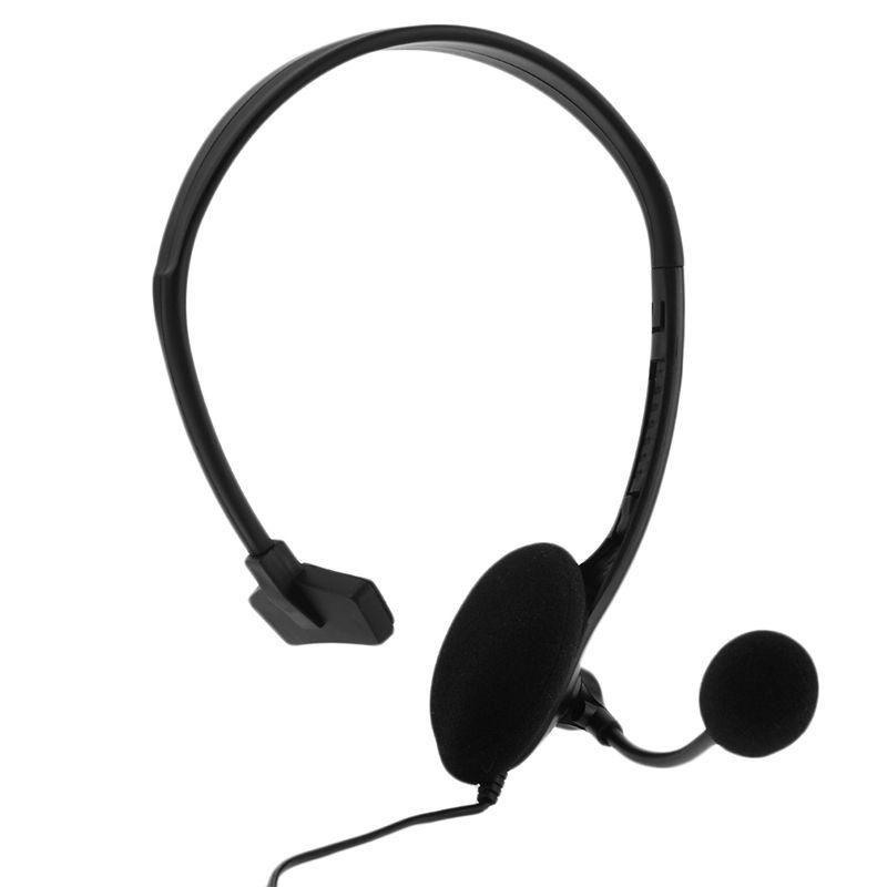 SIFREE Verdrahtete Spiel Headset Noise Cancelling 3,5mm Jack Einseitig Kopfhörer mit Mikrofon für PS4 Spiel