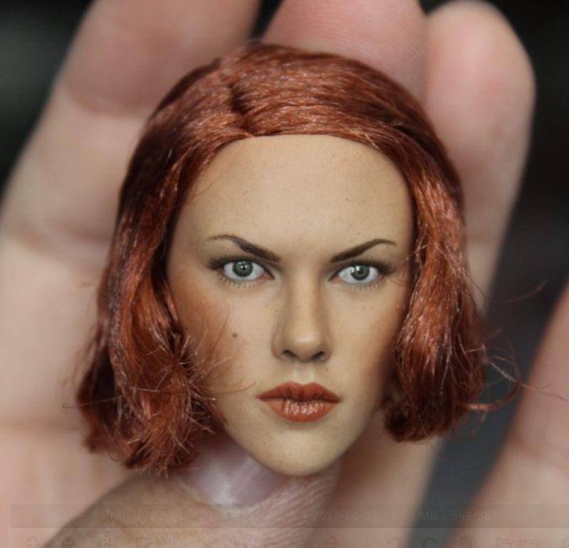 1/6 Black Widow 2.0 Scarlett Johansson Head for 12'' Female Bodies Figures