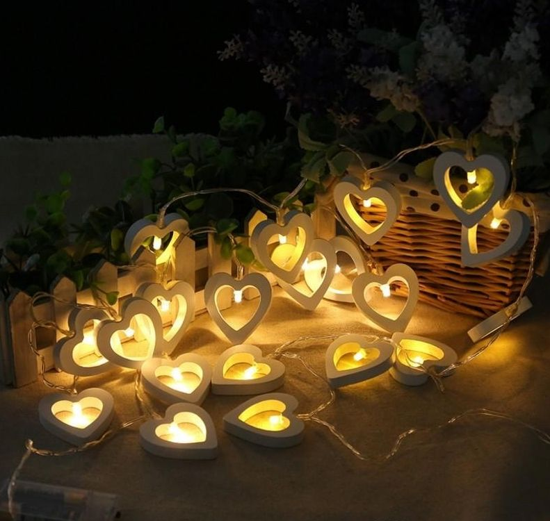 love light string Christmas day decoration lights flashing lights lover wedding decoration lights 1.5M 10LED