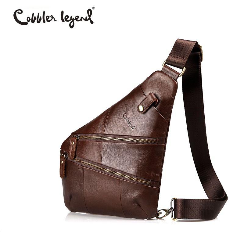 Cobbler Legend Vintage Sling Genuine Leather Messenger Bag For Men Shoulder Bags for Men Crossbody bags Travel Male