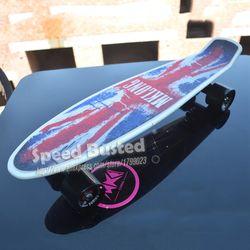 2019 cheap peny boards for sale complete Skateboard 22 griptape Retro Mini Skate long board cruiser longboard wheels led lights