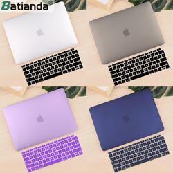 Премиум Новый матовый чехол для MacBook Air 11 12 дюймов ноутбук рукав для Macbook Pro 13 15 Touch Bar/Touch ID 2018 + крышка клавиатуры