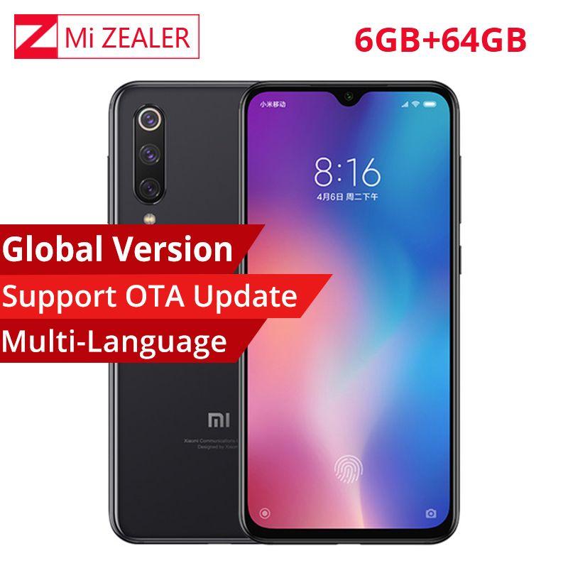 Globale Version Xiao mi mi 9 mi 9 Smartphone 6,39 zoll 6GB RAM 64GB ROM Snapdragon 855 Octa core 48MP + 16MP + 12MP Triple Kameras
