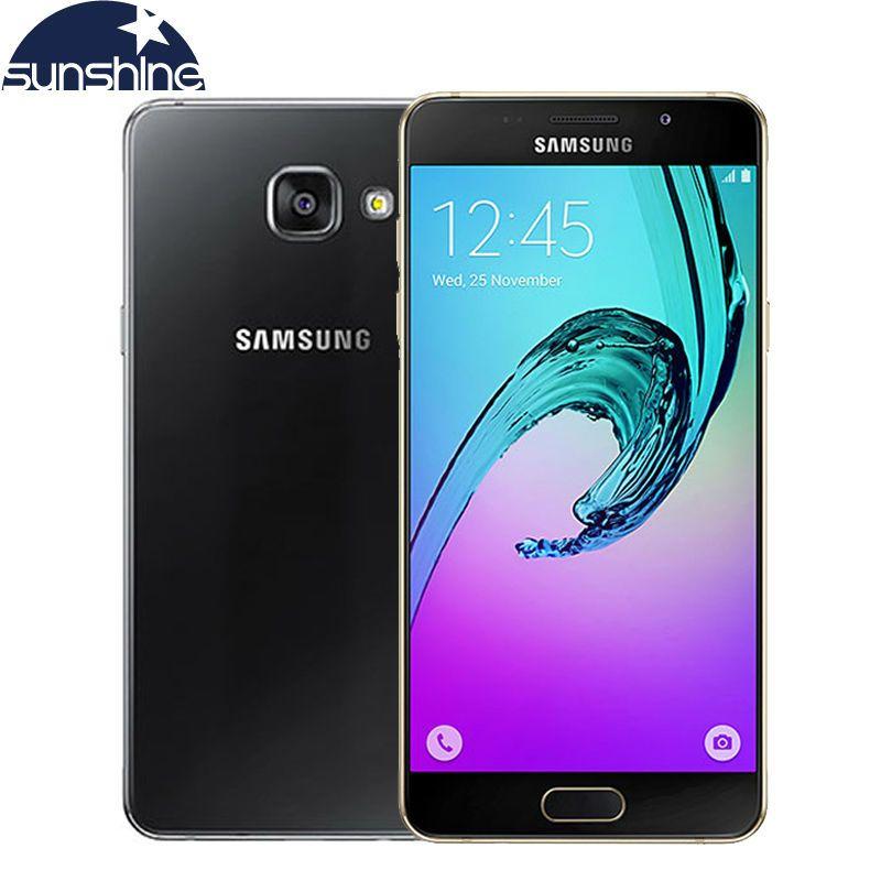 2016 D'origine Samsung Galaxy A5 A5100 4G LTE Android Téléphone Mobile Octa Core 5.2 ''13.0MP Dual SIM Samrtphone 2G RAM 16G ROM