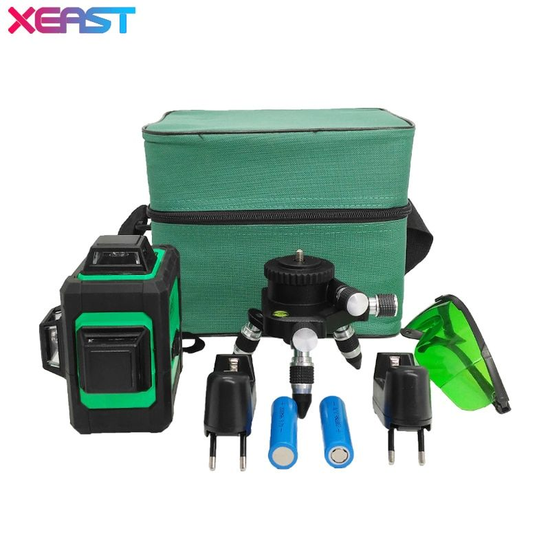 XEAST 12Lines Green Laser Levels Self-Leveling 360 Horizontal And Vertical Cross Super Powerful Green Laser Beam Line