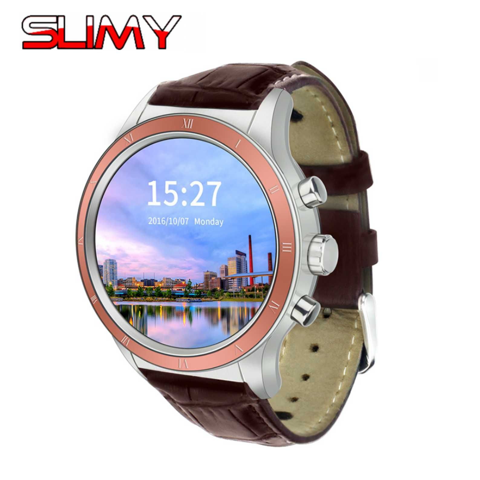 Slimy Y3 Smart Watch Android 5.1 OS Quad Core MTK6580 512MB+4GB Support GPS WIFI SIM 3G Smartwatch Phone for Android OS Phone