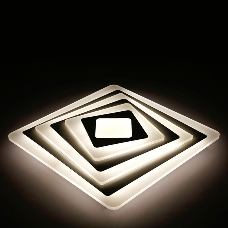 White Modern Ceiling Fixtures Decor Home Lighting Living Room Ceiling Light Led Bedroom Lamp With Remote Control 110-220V