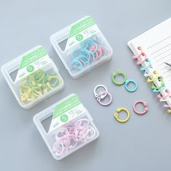 Creative Plastic Multi-Function Circle Ring DIY Albums Loose-Leaf Book Binder Hoops Office Binding Supplies