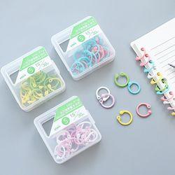 Plástico creativo Multi-función anillo círculo DIY álbumes libro de hojas sueltas carpeta aros Oficina de encuadernación
