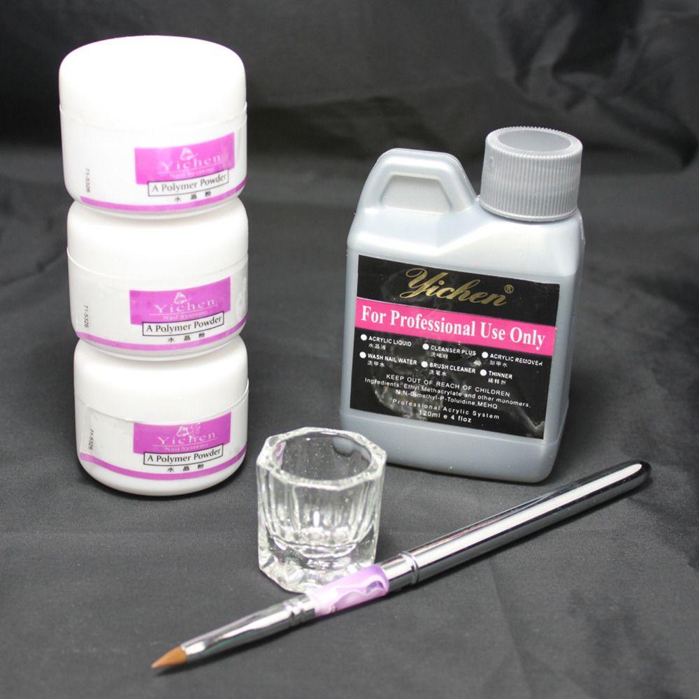 Nail Beauty Art Kit Acrylic Liquid Powder Pen DIY Dappen Dish Nail Art Tool set #46set