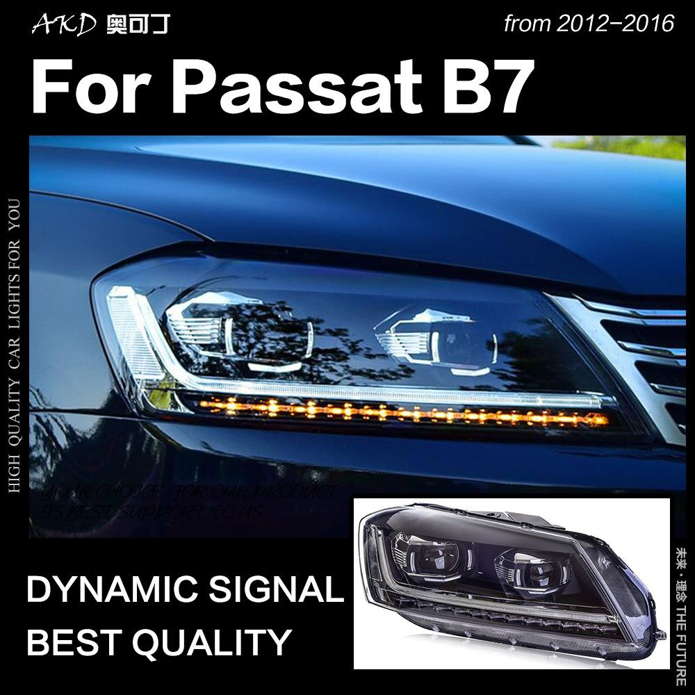 AKD Car Styling for VW Passat B7 Headlights 2012 Magotan LED Headlight DRL Hid Head Lamp Angel Eye Bi Xenon Beam Accessories