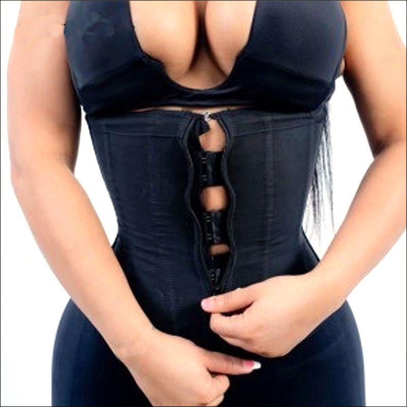 Corset Body Shaper Latex Waist Trainer Zipper Underbust Slim Tummy Waist Cincher Slimming Briefs Hot Shaper Belt Shapewear <font><b>Women</b></font>