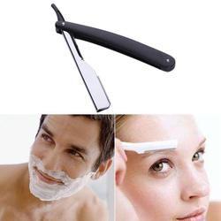 Manual Shaver Professional Straight Edge Stainless Steel Sharp Barber Razor Folding Shaving Shave Beard Cutter holder(No blade)