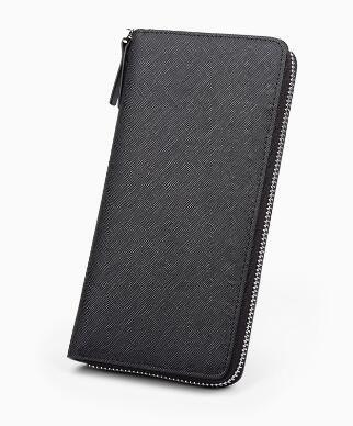 2017 new fashion men/women wallet high quality genuine leather zipper wallet free shipping
