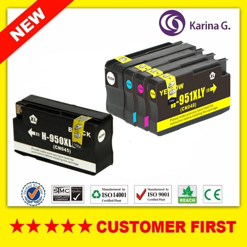 5 x Ink Cartridge for HP 950 951 XL for hp 8610 8620 8680 8615 8625 8600 8630 8100 8610 8660 printer cartridge for hp950