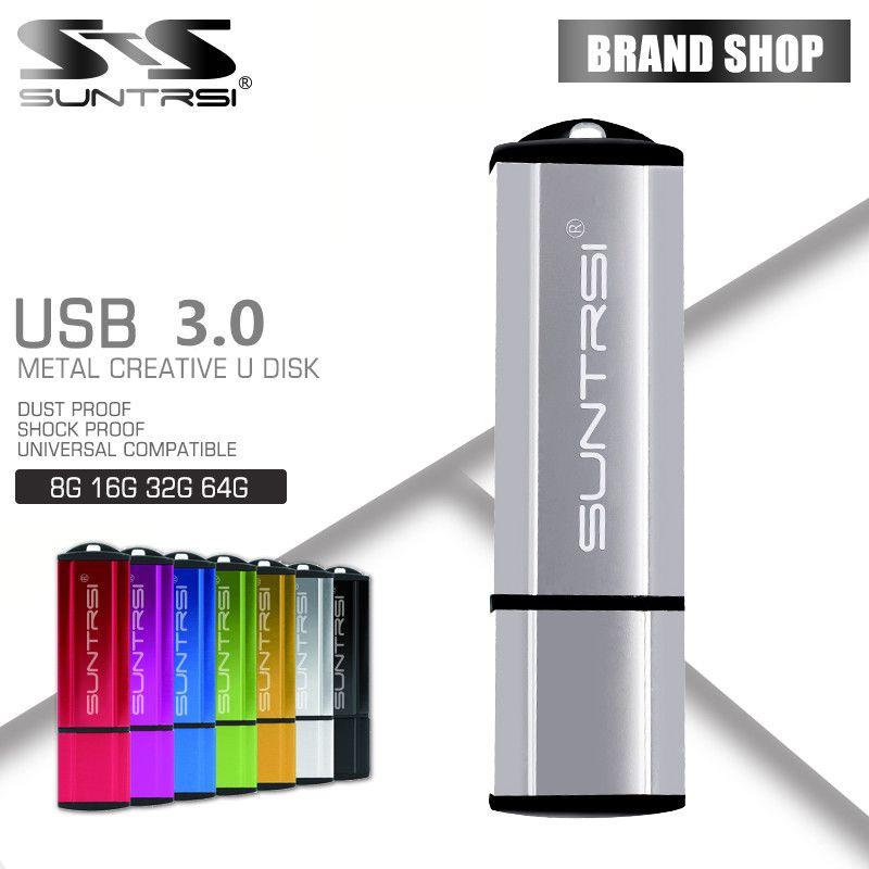 Suntrsi USB Flash Drive Metal Gift Pendrive 64GB High Speed USB 3.0 Pen Drive Full Capacity USB Stick Custom USB