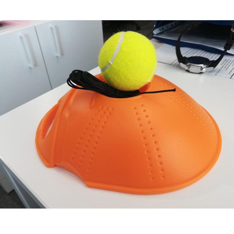 De Tennis Formateur Formation Primaire Outil Exercice Balle De Tennis D'auto-Apprentissage Rebond Balle De Tennis Formateur Plinthe livraison directe