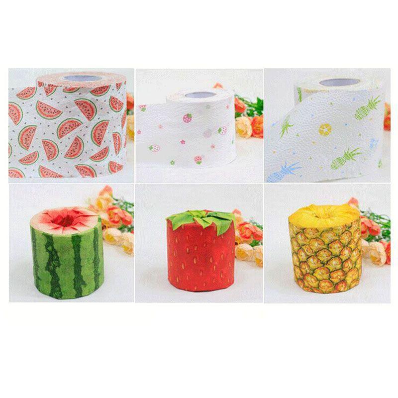 Creative Arts fruits printing toilet paper virgin pulp tissue paper handkerchiefs