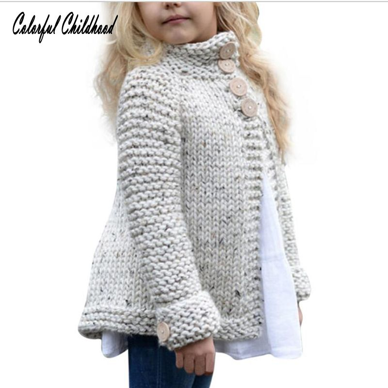 Girls Sweater Kids Cardigan Coat Children's knitted button sweaters Outerwear Tops Xmas baby clothing