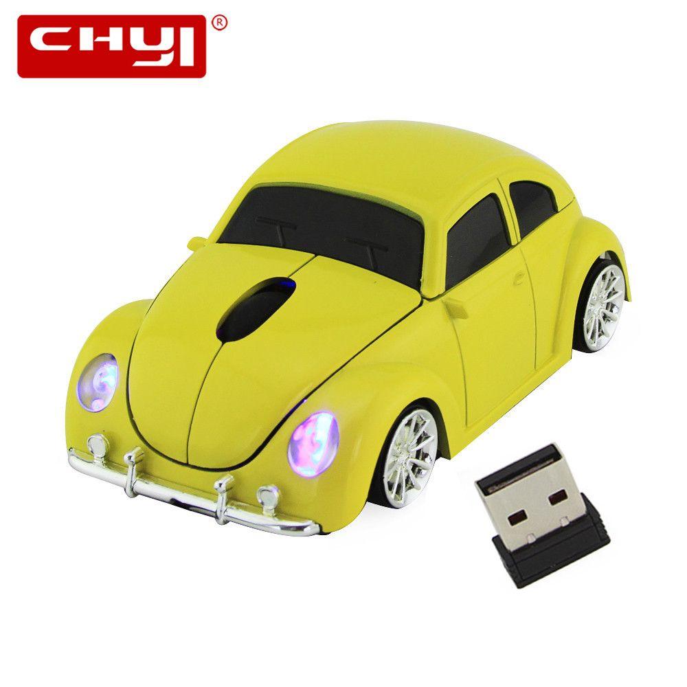 Xmas 3D Беспроводной Мышь оптическая USB компьютера Мышь автомобиля VW Beetle Форма шнур Mause ошибки Beatles для настольных ПК Бесплатная доставка