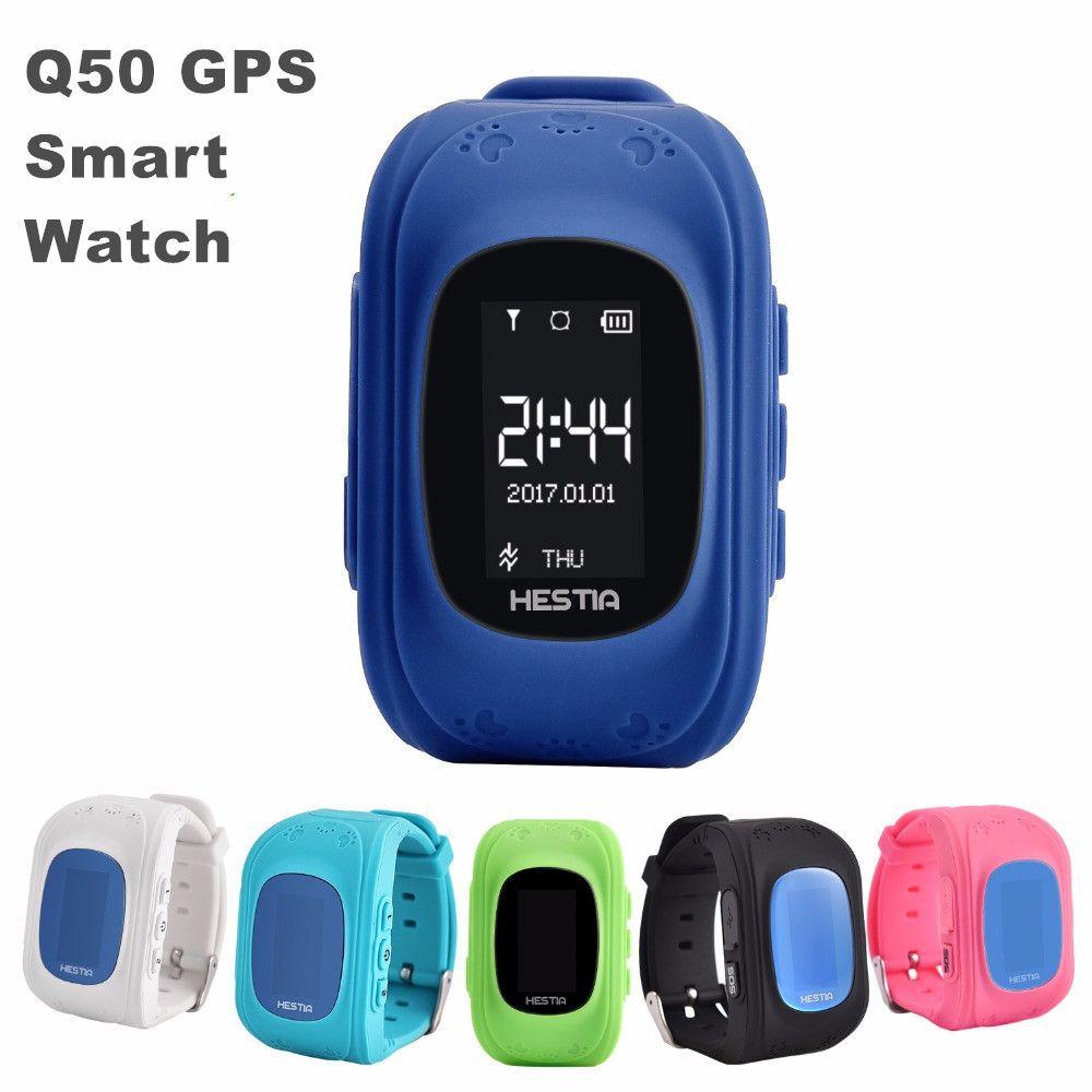 Бесплатная доставка низкая цена смартфона и смотреть 2016 малыш SmartWatch Q50 gps для детей SOS