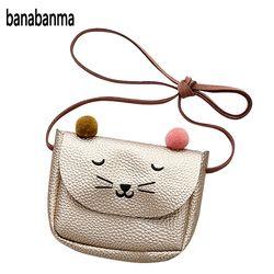 Banabanma Mini lindo gato oído bolso niños del todo-fósforo monedero encantador de la historieta Mensajero de la niña presente ZK25