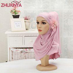 12 couleur Chaude de vente Femmes Hijabs Musulmans hijabs avec la fleur/perles foulard enveloppé la tête écharpe sous couverture souple écharpe