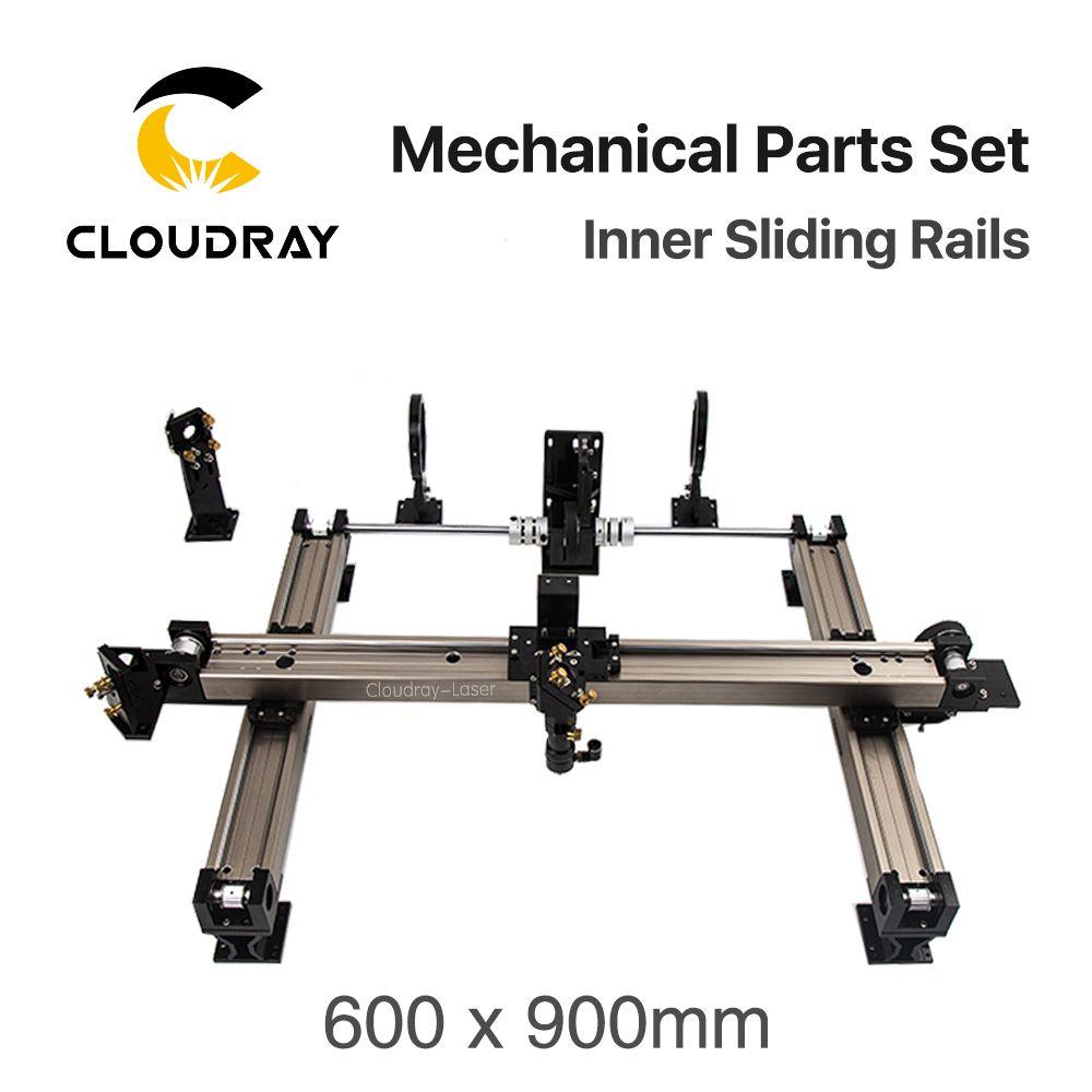 Cloudray Mechanische Teile Set 600*900mm Innere Schiebe Schienen Kits Ersatzteile für DIY 6090 CO2 Laser Gravur schneiden Maschine