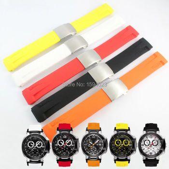 T-RRCE Expert Black Silicone rubber Strap T048 Watch band for T048417A 21mm