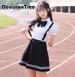 2019 летняя школьная форма набор студент галстук для костюма костюм моряка комплект школьная форма для японской средней школы костюм японска...