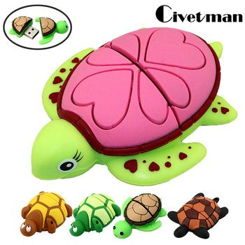 USB Flash Drive Tortue Pen Drive 4 GB 8 GB 16 GB 32 GB 64 GB 128 GB Animal Tortue USB Flash Pendrive Memory Stick Cadeaux
