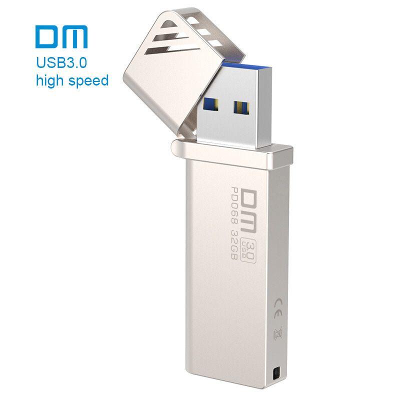Бесплатная доставка DM pd068 Новый 16 ГБ 32 ГБ 64 ГБ 128 ГБ 256 ГБ USB флеш-накопители металла USB 3.0 High- скорость записи от 10 МБ/s-60MB/s