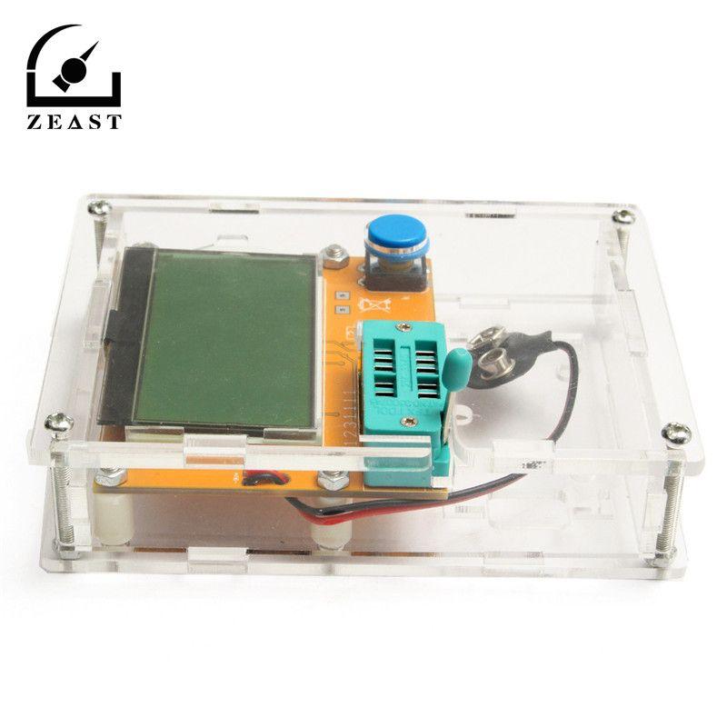L CR-T4 Mega328 M328 Multimetr Transistor Tester ESR Meter Diode Triode Capacitance ESR Meter MOS PNP NPN L CR SCR Inductance