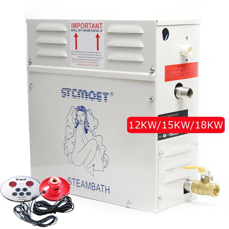 Dampf generator sauna bath SPA für home oder commerce Vorteilhaft haut Gewicht verlust 12KW/15KW/18KW Nass Begasung maschine 380 V 220 V