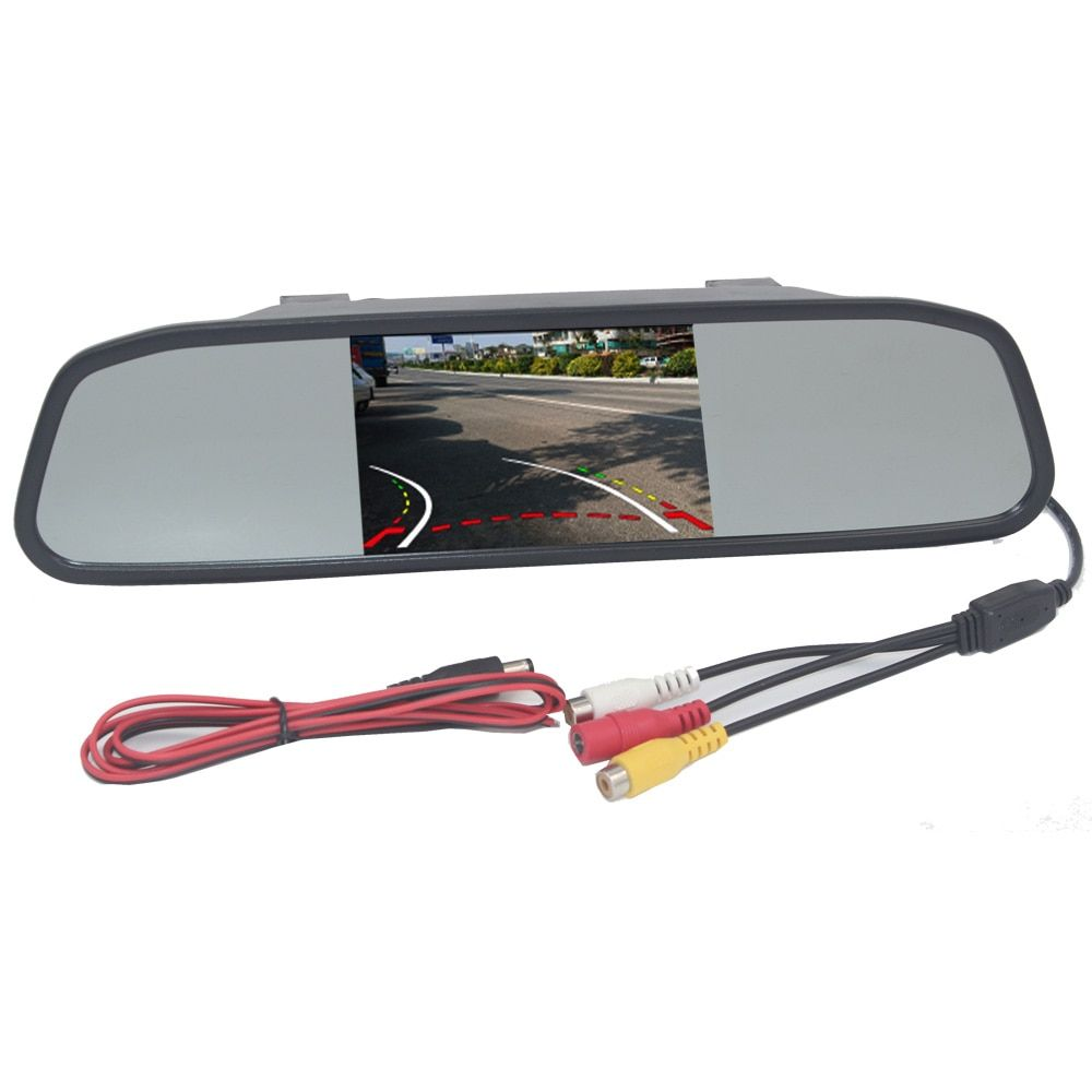 Car Mirror Monitor Rearview With Backup Reverse Camera TFT LCD Color Parking Assistance Rear View Camera Car Styling
