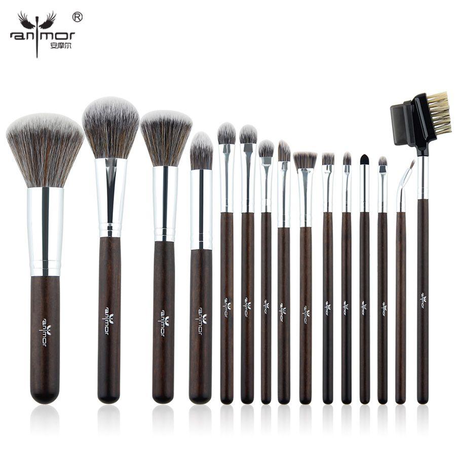 Anmor Brand15 pcs Makeup Brush Set Professional Pinceaux Maquillage Beautiful Powder Blush Eyeshadow Make Up Brushes