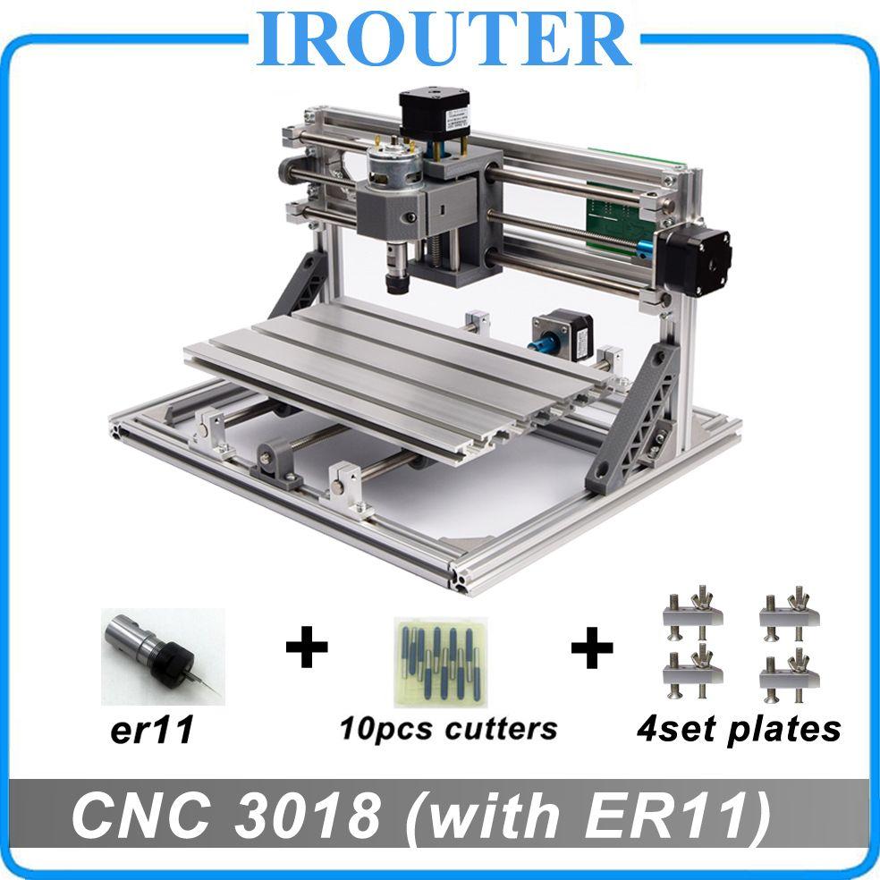 CNC3018 withER11, diy mini cnc machine de gravure, laser gravure, Pcb PVC Fraiseuse, bois routeur, cnc 3018, meilleur Avancée jouets