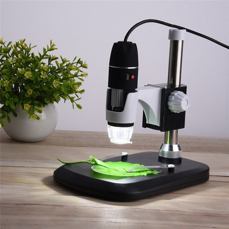 USB Digital Microscope 50X- 1000X 2MP Endoscope Electronic Magnifier Camera With Holder Stand 8LED