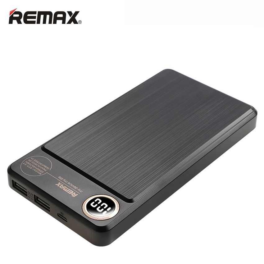 REMAX RPP-59 Power bank 20000mAh Dual USB Fast Polymer battery External Battery Charger Mobile Phone Portable Charging Powerbank