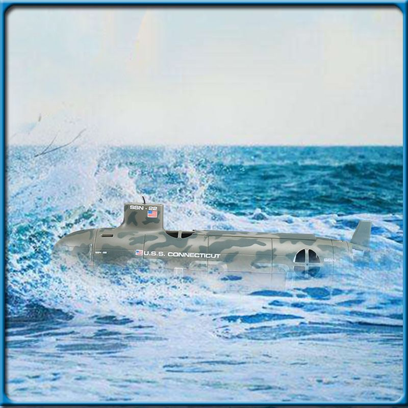 Hot Quality US Seawolf RC Submarine Model Nuclear-Powered Submarine RC Remote Control Boat Charging children's Toys