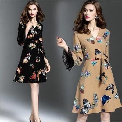 floral silk dress summer robe femme ete 2018 maxi women beach dresses sexy long plus size printed butterfly flower black beige
