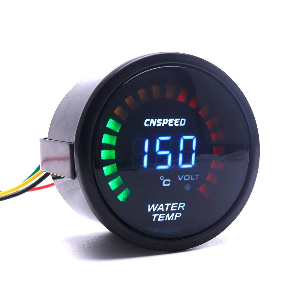 CNSPEED 52mm 2 Inch LCD Digital Car Water Temp Gauge With Sensor Water Temperature gauge Car meter Auto gauge TT101272