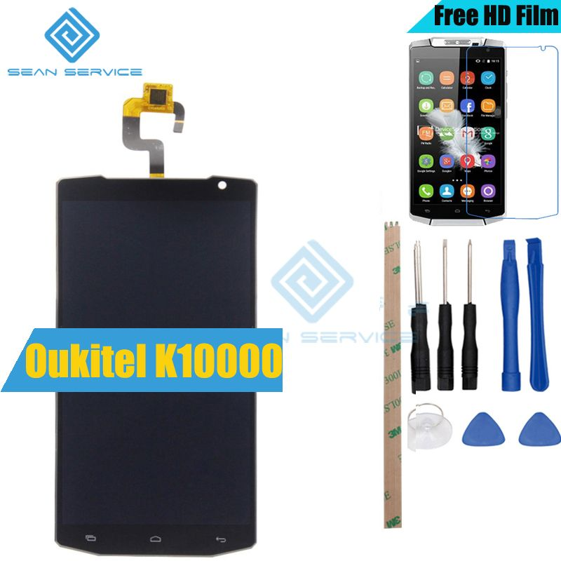 For Original Oukitel K10000 LCD Display and TP Touch Screen Digitizer Assembly 5.5 inch 1280x720 HD Quad Core Free shipping