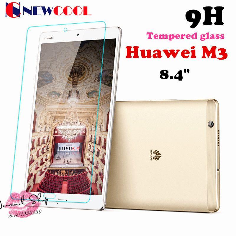 1 pc/lot protector de la pantalla para Huawei Mediapad m3 btv-w09 btv-dl09 8.4 pulgadas Tablet 9 h protector de pantalla de vidrio templado películas