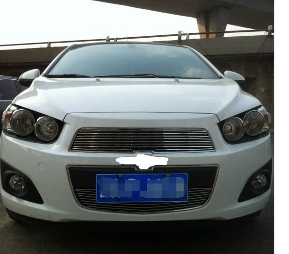 Billet Grille Grill Insert for 2011 -2013 Chevy Sonic AVEO 2PCS