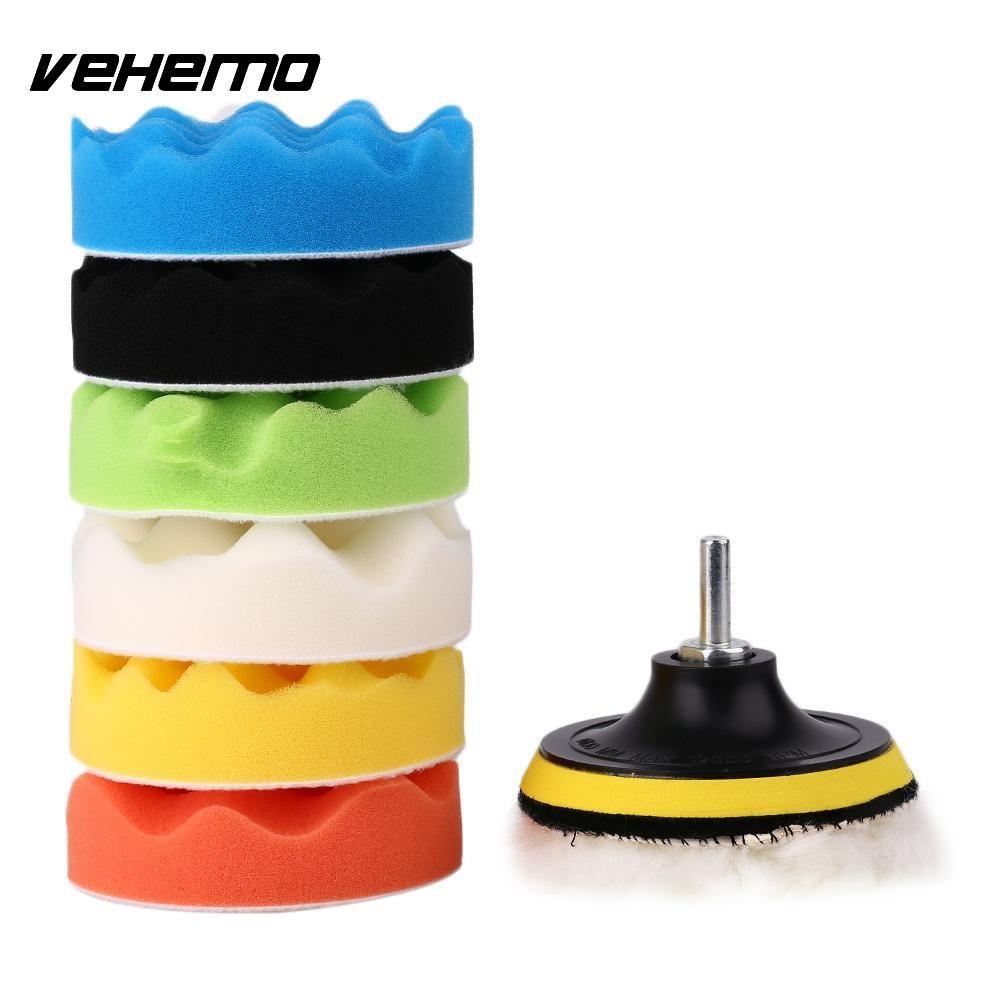 Vehemo Авто полированная воском самоклеящиеся связь сверла Род 4 ''дюймовый комплект
